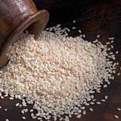 SHUKTI BRAND White Hulled Sesame Seeds, For Food, Packaging Size: Bopp Bag