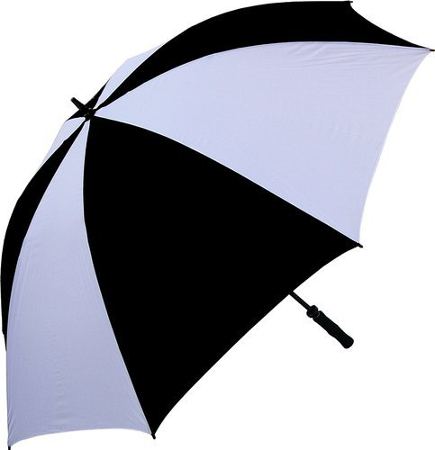 fe383781a5336 Black And White Plain Golf Umbrella, Size: 30 Inch, Rs 250 /piece ...