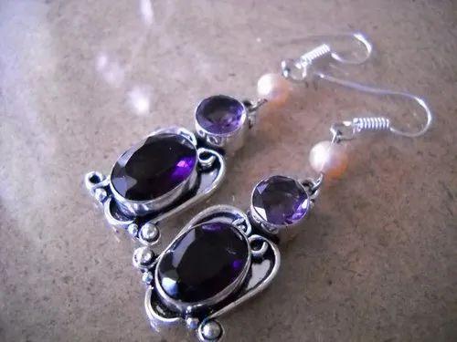 Amethyst Antique Earrings