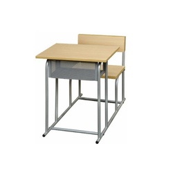 Metal and Wooden Classroom Desk