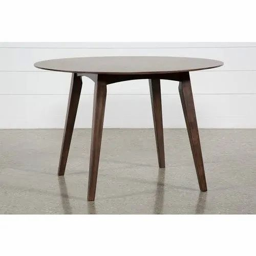 2 5 Ft Brown Round Dining Table Material Wooden Rs 5000 Unit Id 21715141997