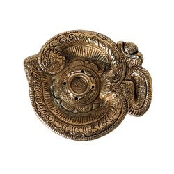 Brass Om Shaped Agarbatti Holder