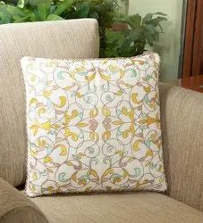 16 X 16 Inch Lime Green Bel Embroidery Cushion Cover