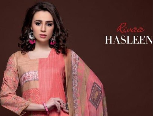 fbc5d09140 Cotton Straight RIVAA EXPORTS HASLEEN SALWAR SUITS, Rs 555 /piece ...