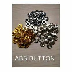 Golden, Silver ABS Shell Button, Size/Dimension: 12l- 20l
