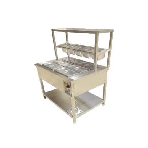Silver Stainless Steel Hot Serving Counter, For Restaurant