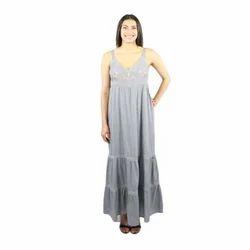 Ladies Grey Long Dress