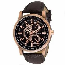 Dark Brown Mens Analog Watch
