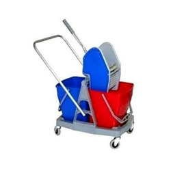 Double Bucket Wringer Trolley, Model: DMB25, Capacity: 20-50 L