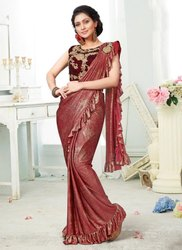 Stylish Look Party Wear Ready To Wear Sarees