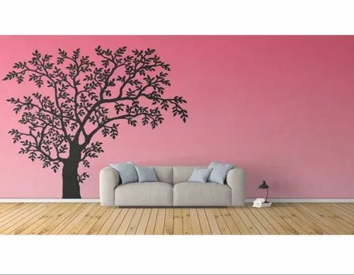 Kids Wallpapers - Designer Black Tree On Pink Background Girly ...