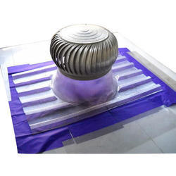 Turbo Ventilator With Stainless Steel, Polycarbonate FRP Base Plate