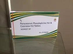 Paracetamol, Phenylephrine HCI & Cetrizine HCI Tablets