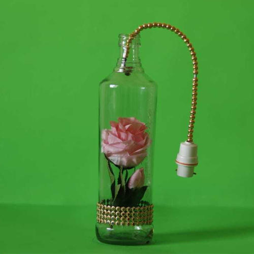 Rose Pink Rose Lamp Decorative Bottle Bottle Pink Lamp Decorative Pink dhBtsQrCx