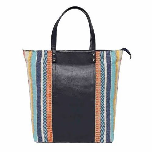 Casual Wear Canvas Jacquard Tote Bag