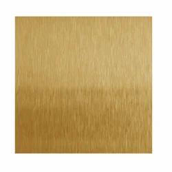 Stainless Steel Golden Hair Line Sheet