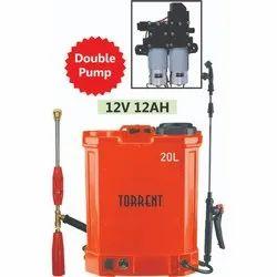 12AH Double Pump Knapsack Battery Sprayer
