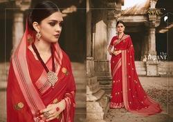 Sva Mangalam Series 1001-1006 Stylish Party Wear Viscose Saree