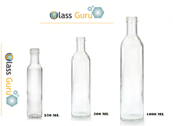 Flint 1000 ML glass oil marasca bottle