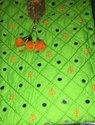 Parrot Color Party Wear Cotton Suit