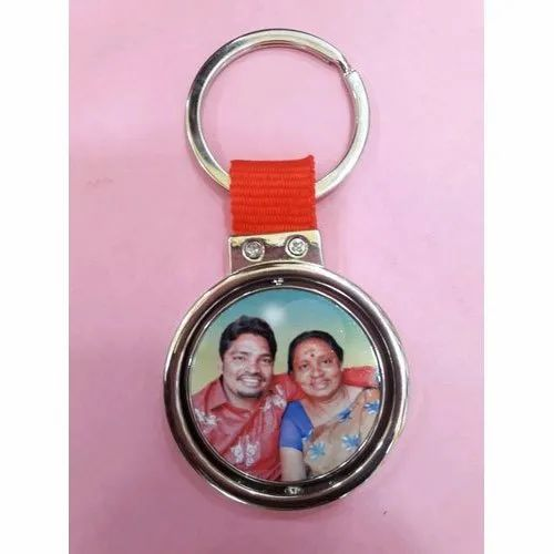 Stainless Steel Sublimation Photo Key Chain, For Key Holder