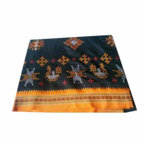 Ethnic Kashida Silk Saree, Length: 6 M