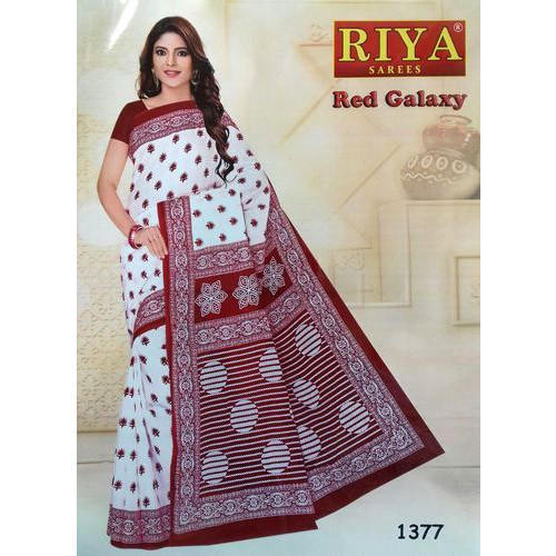 39624585b867ab Casual Wear Printed Casual Cotton Saree, Without Blouse, Rs 420 ...