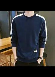Color 6 Rib Knit Mens T Shirts, Size: Free Size