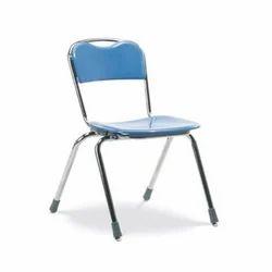 Blue Mild Steel Chair, Size: 22.5 x 15.5 x 31 mm