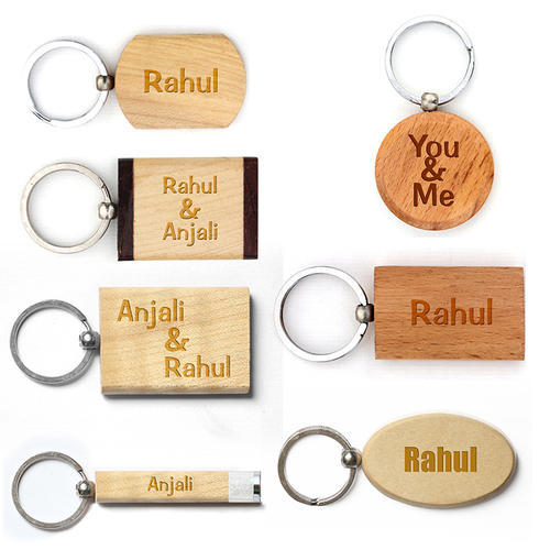 wooden engrave keychain at rs 35 piece engraved keychains