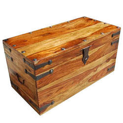 Brown Polished Wooden Tool Box, Size: Standard