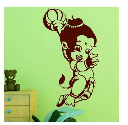 matte finish vinyl bal hanuman wall sticker, rs 469 /piece | id