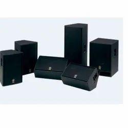 Black Powered Passive Speaker