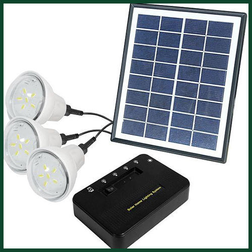 5 W Solar Home LED Lighting System, IP Rating: 40