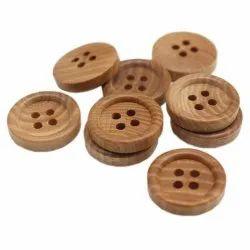 Wood Round Beige Wooden Buttons
