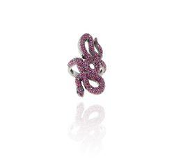Blue Sapphire Ruby Snake Rings