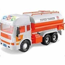 Orange,White And Black Plastic Oil Tanker Toy