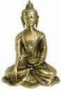 Brass Gold Finish Meditative Buddha Statue Indian Idol Sculpture