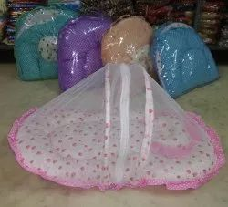 Multi Colored Cotton Baby Beds With Mosquito Net Size Small, Miduam And Large Available Wholesale