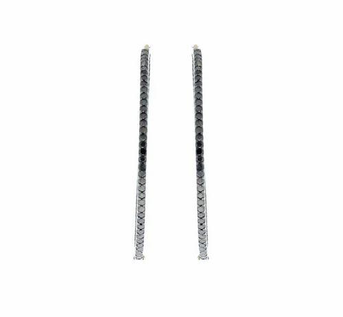 Chic Designs Silver Diamond Gold Black Hoop Earrings