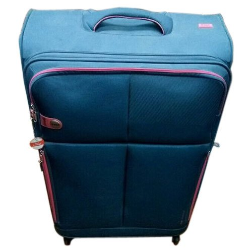 Blue Polyester VIP Luggage Trolley Bag
