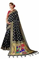 Banarasi Silk Pethani Weaving Maharastrian Party Wear Traditional Wedding Wear Saree