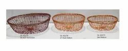 Multipurpose Oval Metal Wire Basket Available As a Set Of 3 Pieces