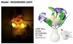 Wall Mounted LED Mushroom Night Light