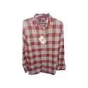 Mens Red and White Check Shirt
