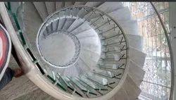 Modern Spiral Glass Handrail