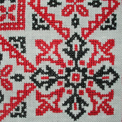Dye Able White Cross Stitch Embroidery Design Rs 180 Meter Id