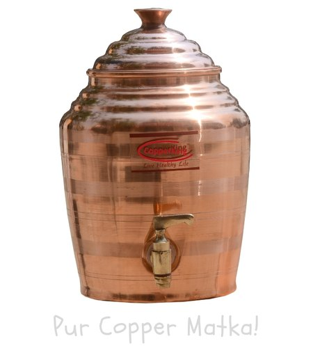 CopperKing Natural Pure Copper Pot / Matka  - Water Dispenser