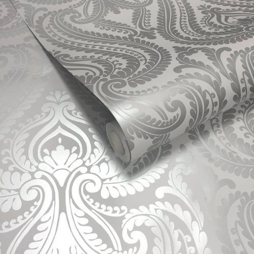 Non Woven Silver Designer Wallpaper Rs 55 Square Feet Artzz
