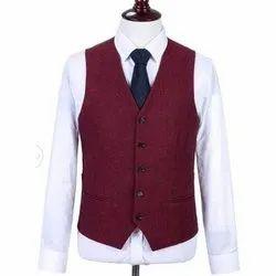 Plain Mens Party Wear Waistcoat, Size: 34 - 44